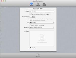 Apple Configurator Initial Screen
