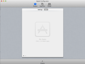 Apple Configurator Apps screen