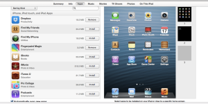 Apps on iPad in iTunes